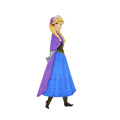 Mini Personagem Anna Frozen c/6 unid. Ref: 05023 - Piffer